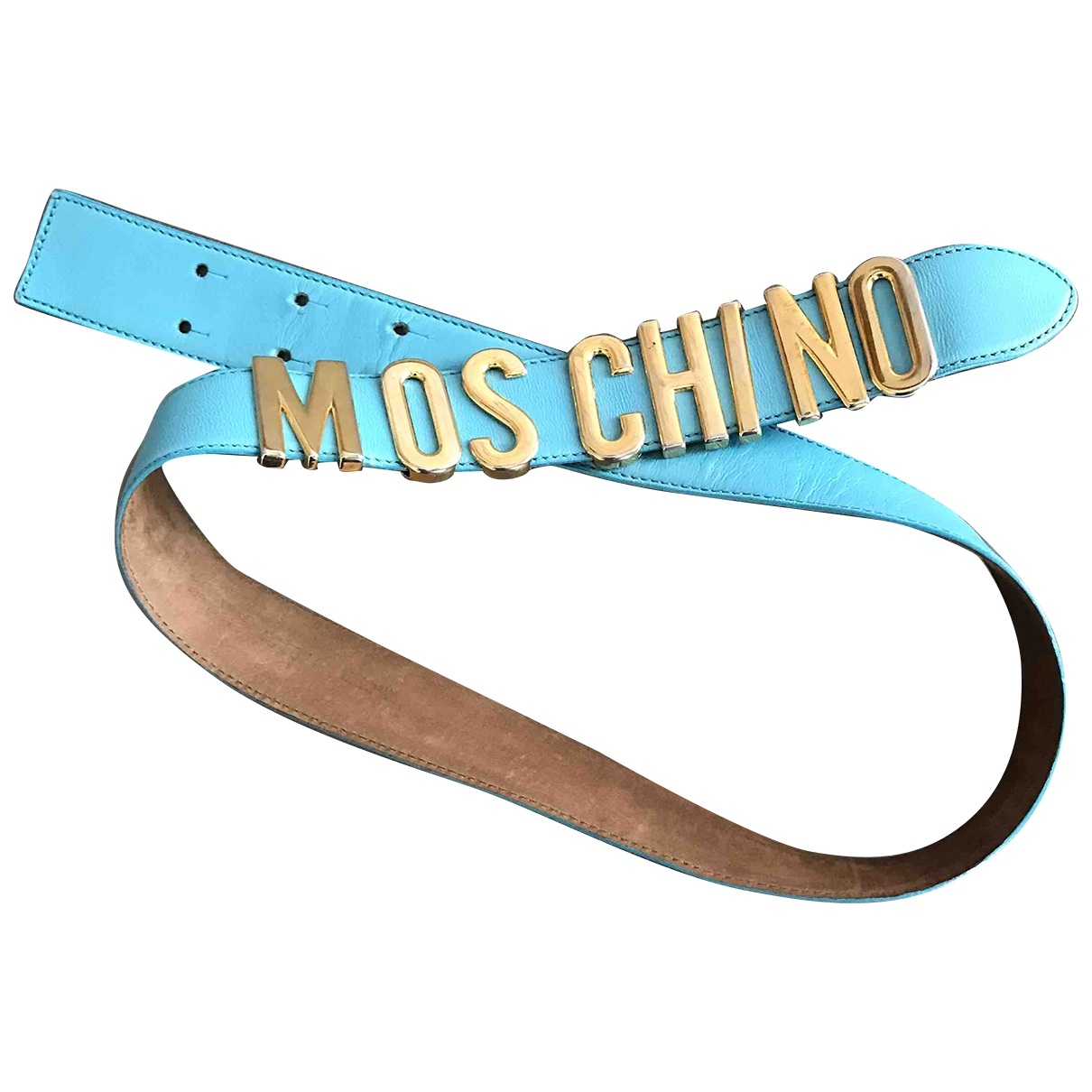Moschino \N Blue Leather belt for Women 85 cm