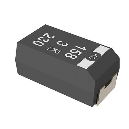 KEMET Tantalum Capacitor 220μF 10V dc Polymer Solid ±20% Tolerance , T530 (500)