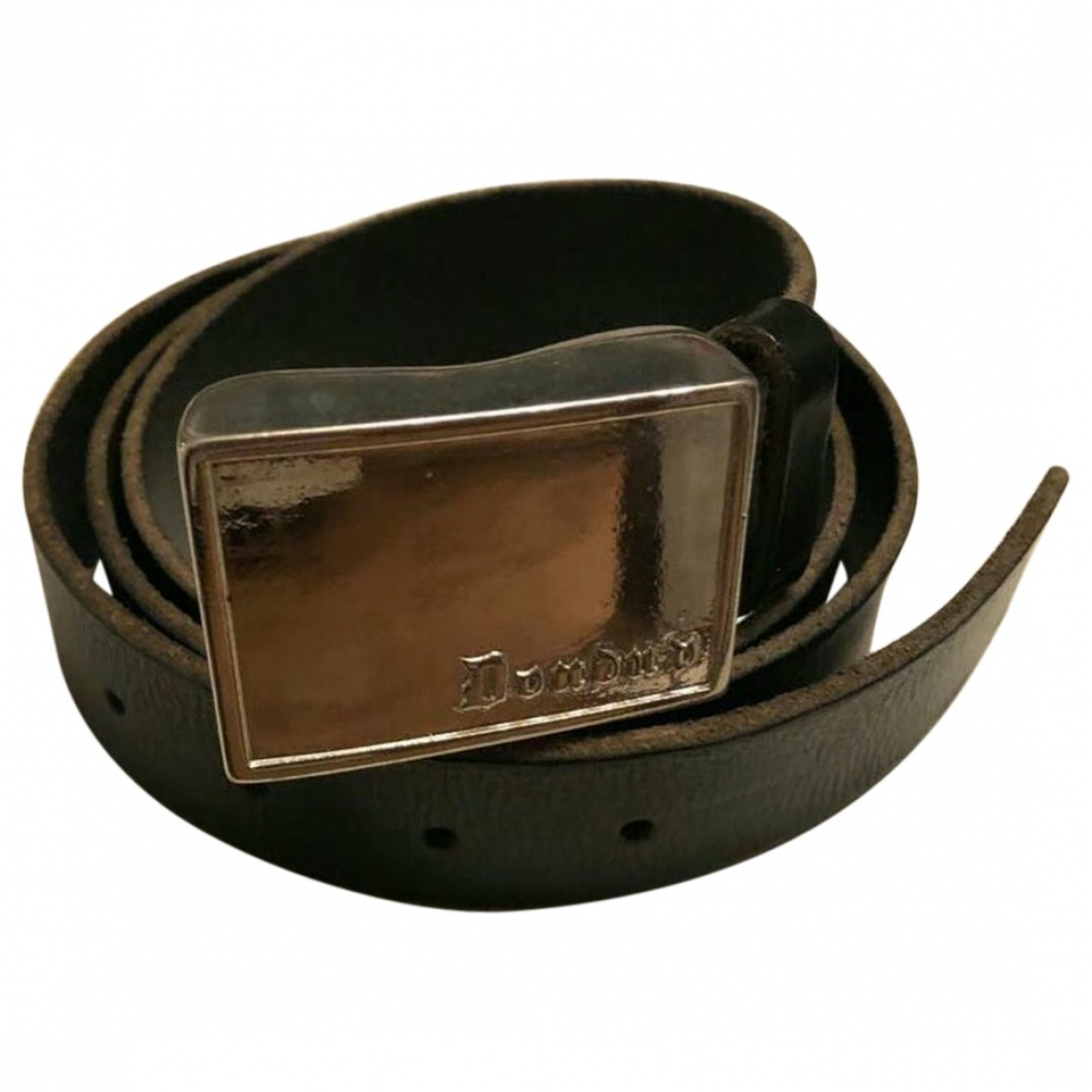 Dondup \N Brown Leather belt for Men 100 cm