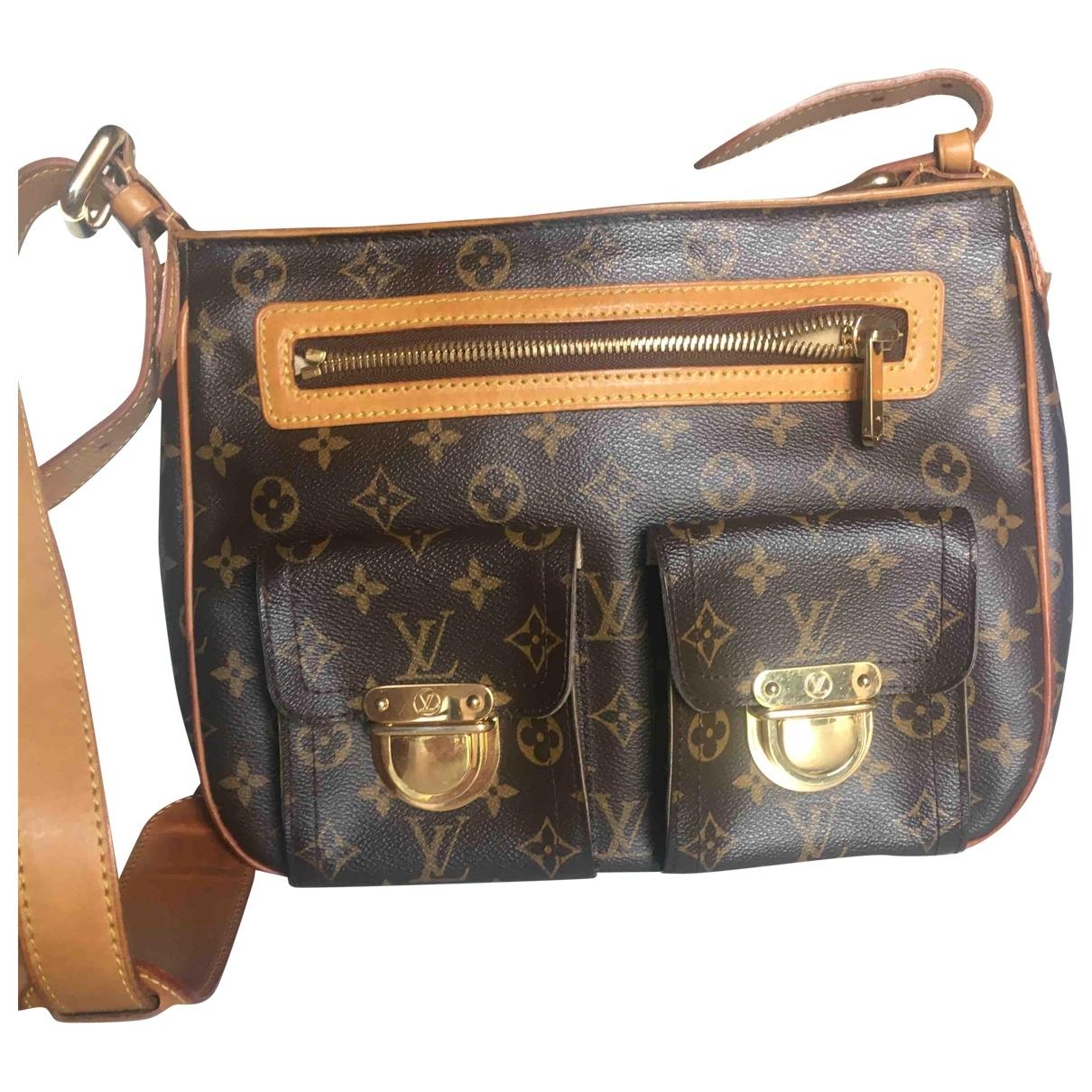 Louis Vuitton Hudson Handtasche in  Braun Leinen
