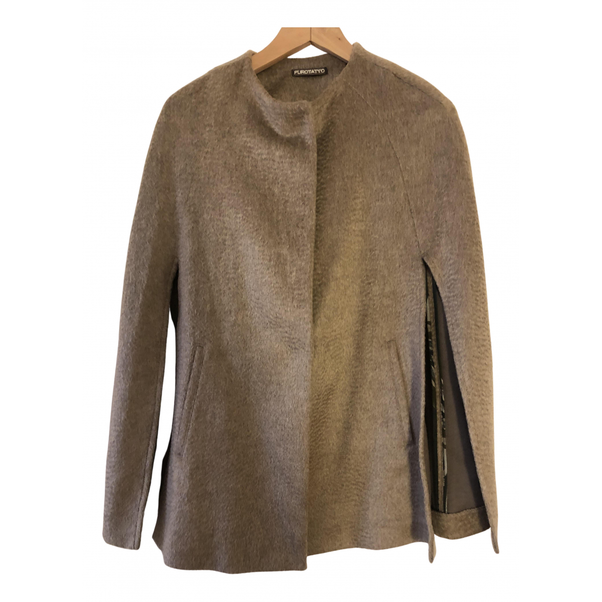Non Signé / Unsigned N Beige Wool coat for Women 42 IT