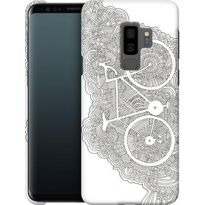 Samsung Galaxy S9 Plus Smartphone Huelle - Bike Drawing Meditation von Kaitlyn Parker