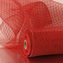 Mandarin Red Deco Mesh - 21 X 10 Yards - Polypropylene / Cellophane - Wraps by Paper Mart