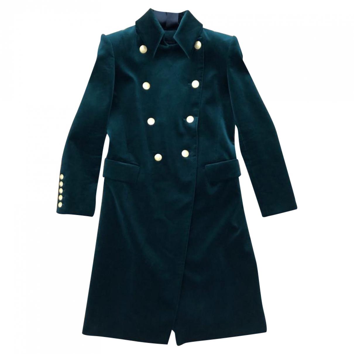 Pierre Balmain \N Green Velvet coat for Women 38 FR