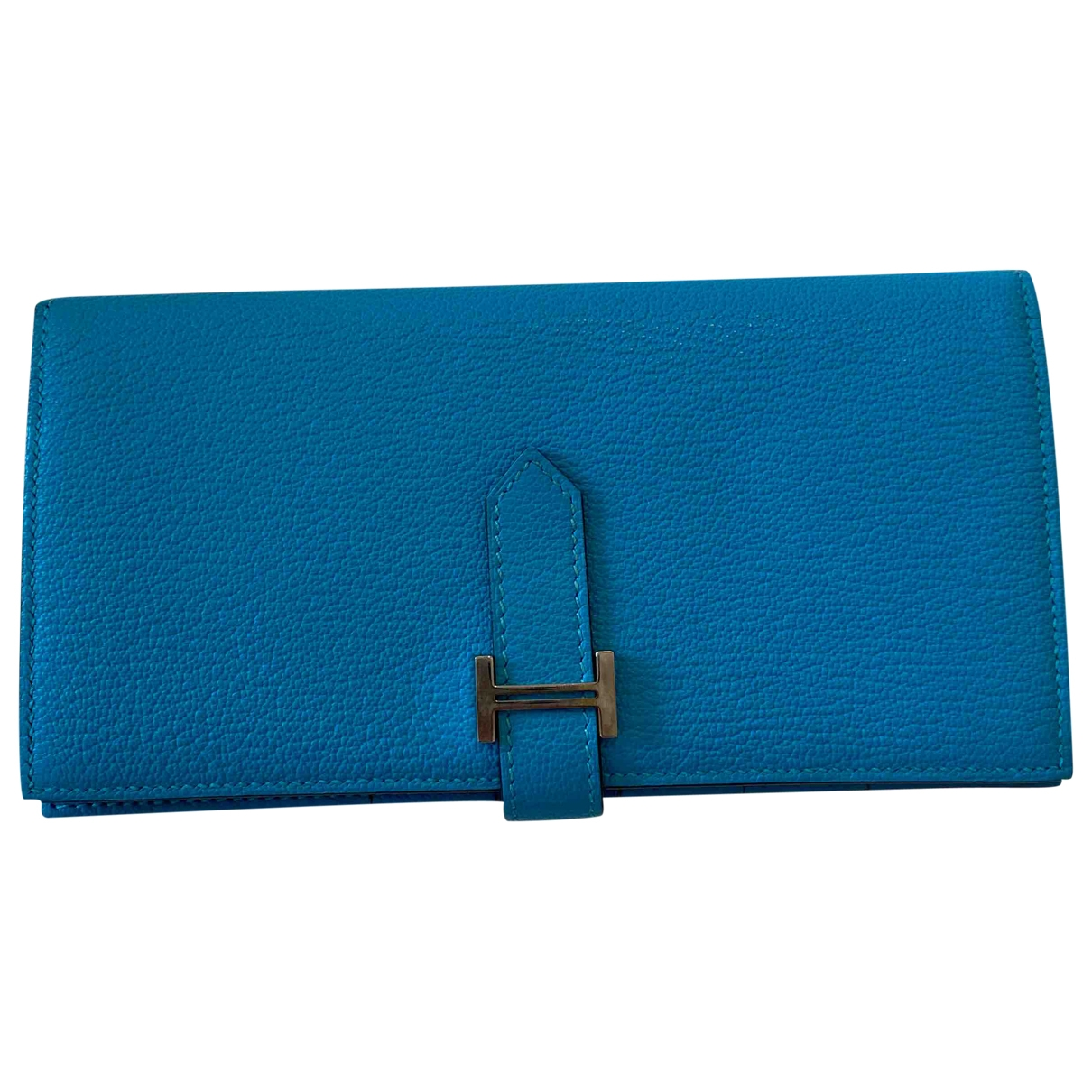Hermès Béarn Blue Leather wallet for Women \N