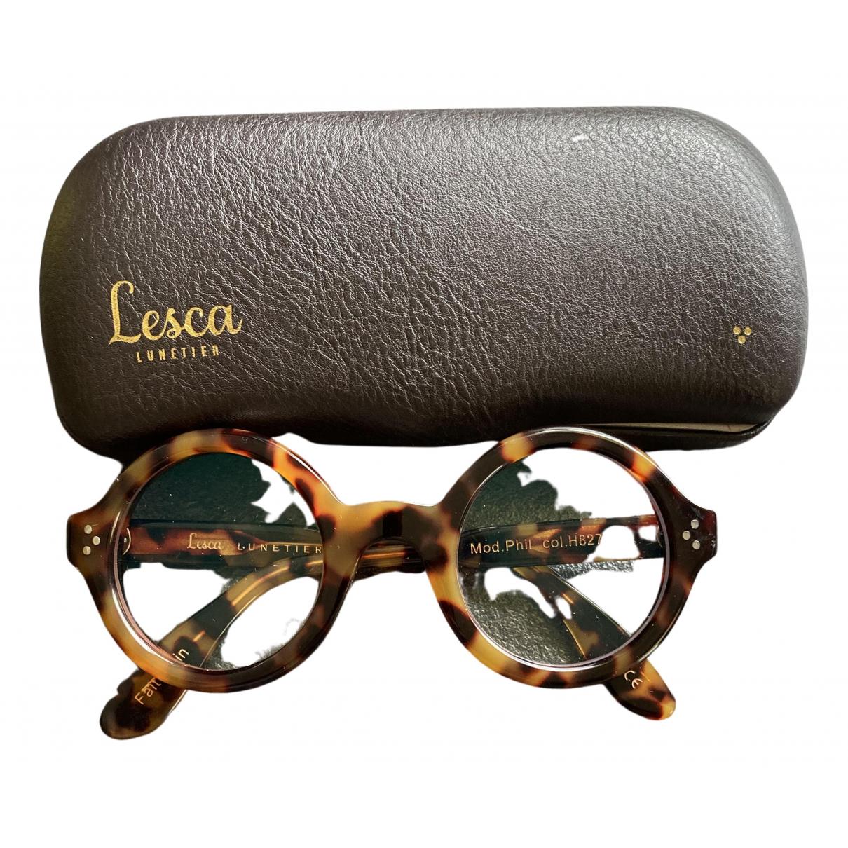 Lesca \N Brown Sunglasses for Women \N