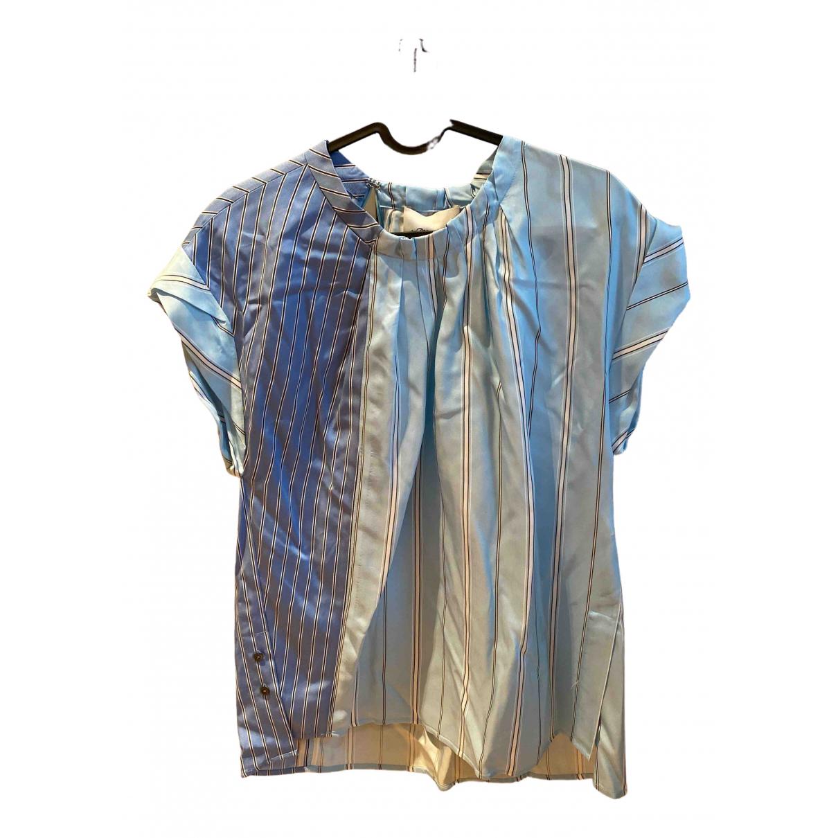 3.1 Phillip Lim - Top   pour femme en soie - bleu