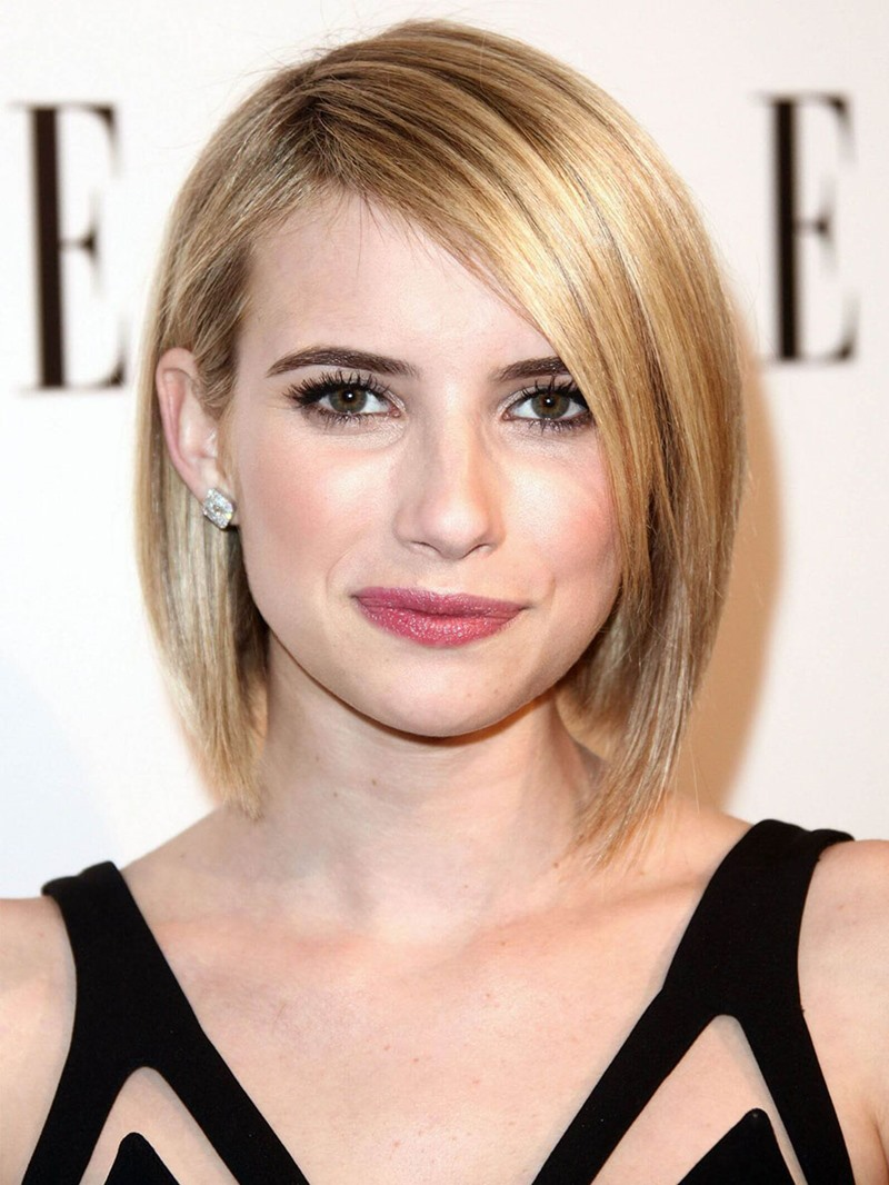 Ericdress 100% Human Hair Womens Blonde Color Medium Bob Hairstyles Wigs Lace Front Wigs 16inch