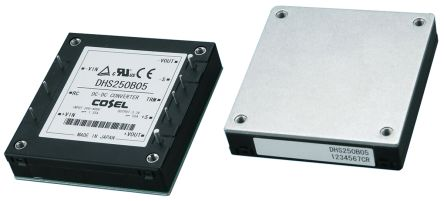 Cosel DHS 252W Isolated DC-DC Converter PCB Mount, Voltage in 200 → 400 V dc, Voltage out 12V dc