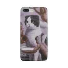 1 Stueck iPhone Etui mit Katze & Engel Muster