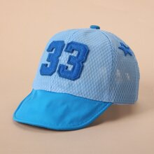 Kleinkind Maedchen Baseball Hut mit Nummer Stickereien
