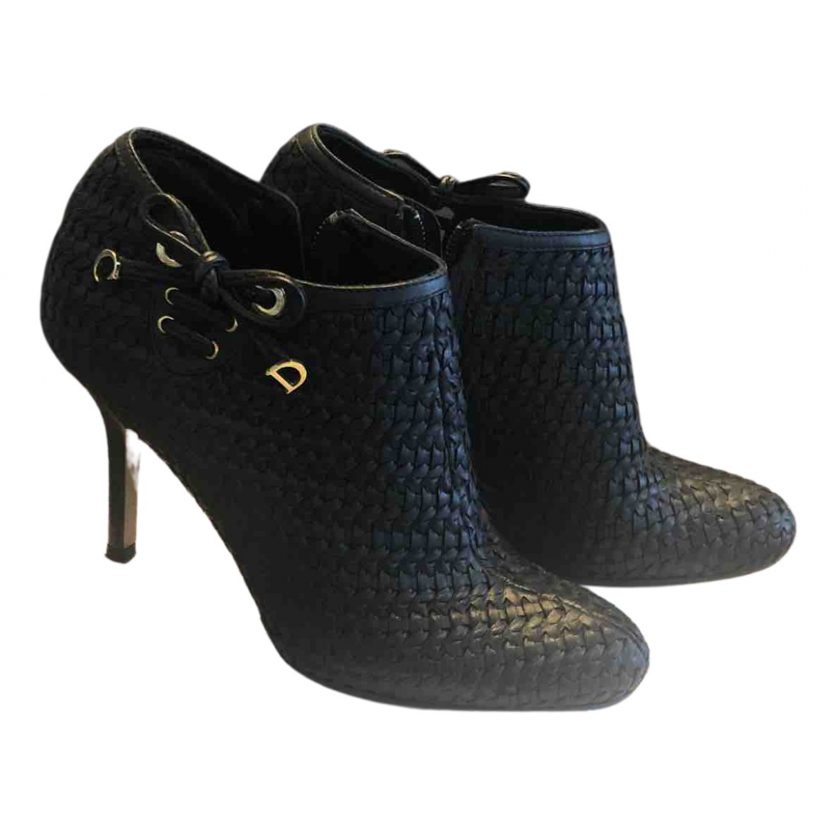 Dior N Black Leather Ankle boots for Women 37.5 EU