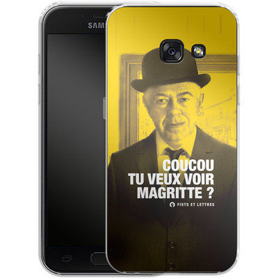Samsung Galaxy A3 (2017) Silikon Handyhuelle - Tu Veux Voir Magritte von Fists Et Lettres