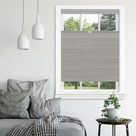 Top-Down Bottom-Up Cordless Honeycomb Shade, One Size , Gray