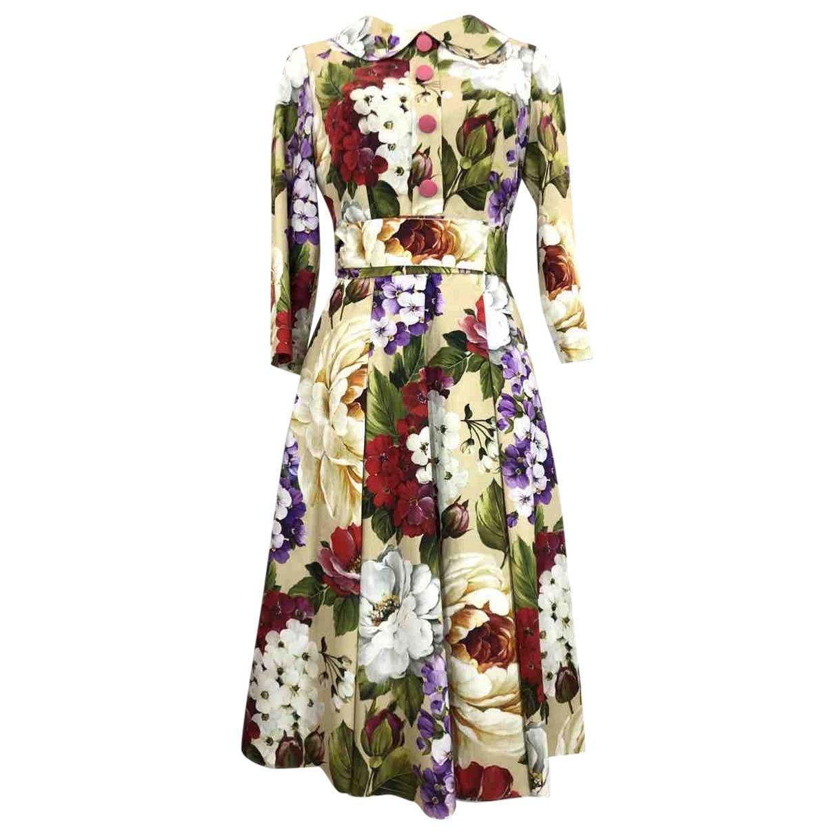 Dolce & Gabbana \N Kleid in  Gelb Polyester