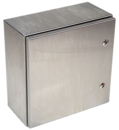 RS PRO 304 Stainless Steel Wall Box, IP66, 200mm x 400 mm x 400 mm, Unpainted