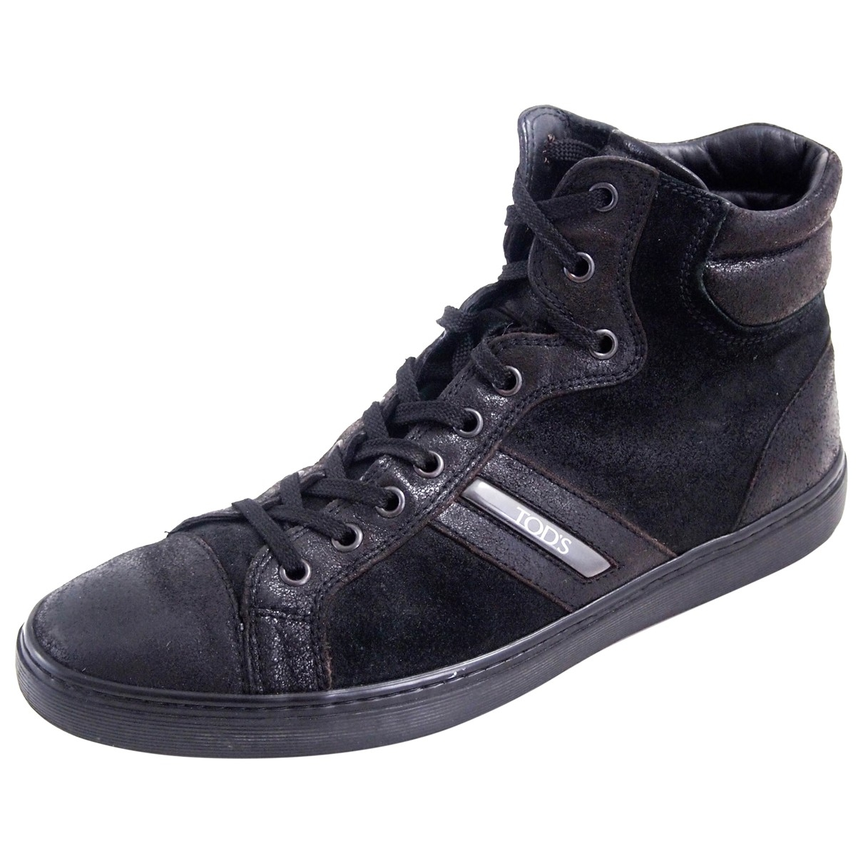 Tod's \N Black Suede Trainers for Men 41.5 EU
