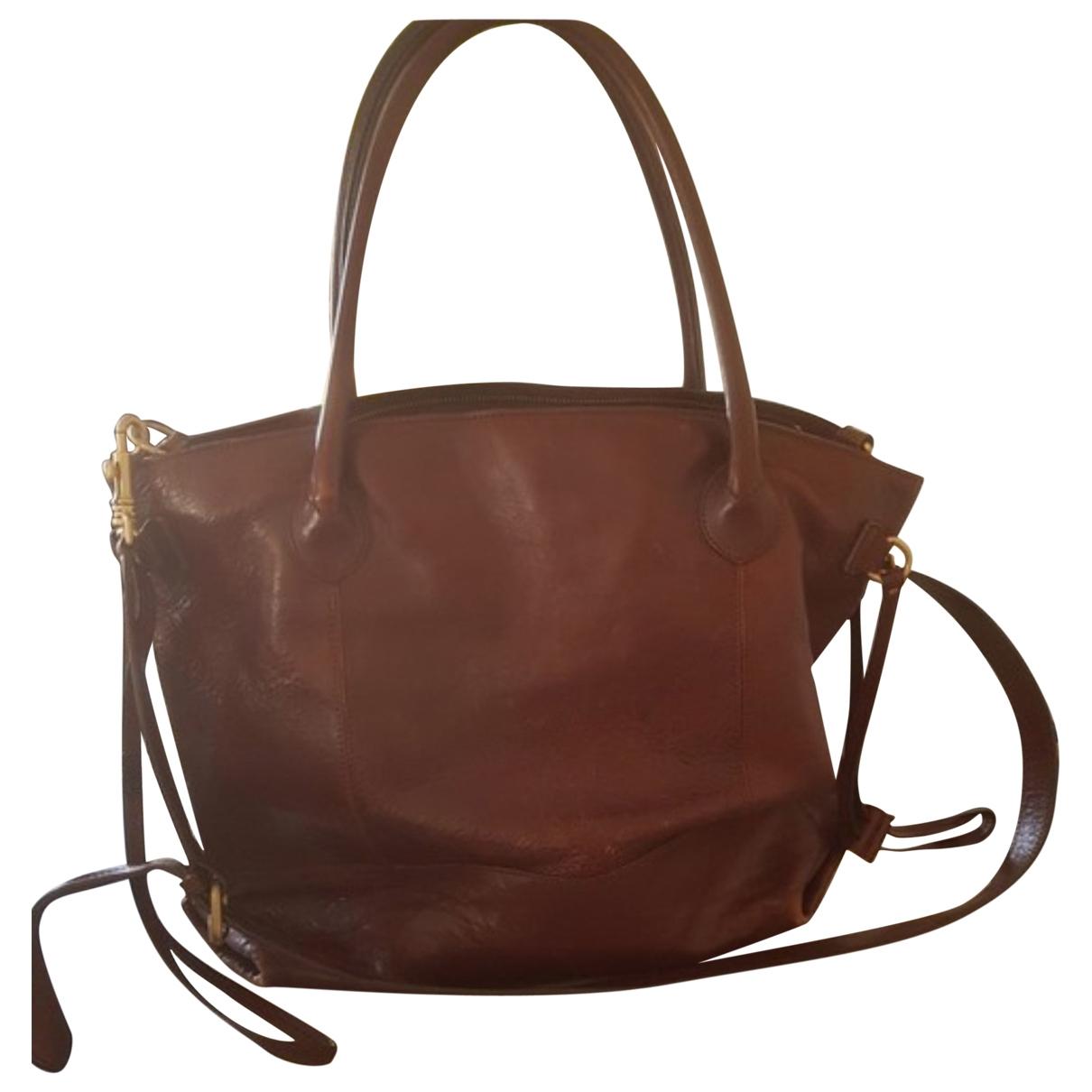 Massimo Dutti \N Brown Leather handbag for Women \N