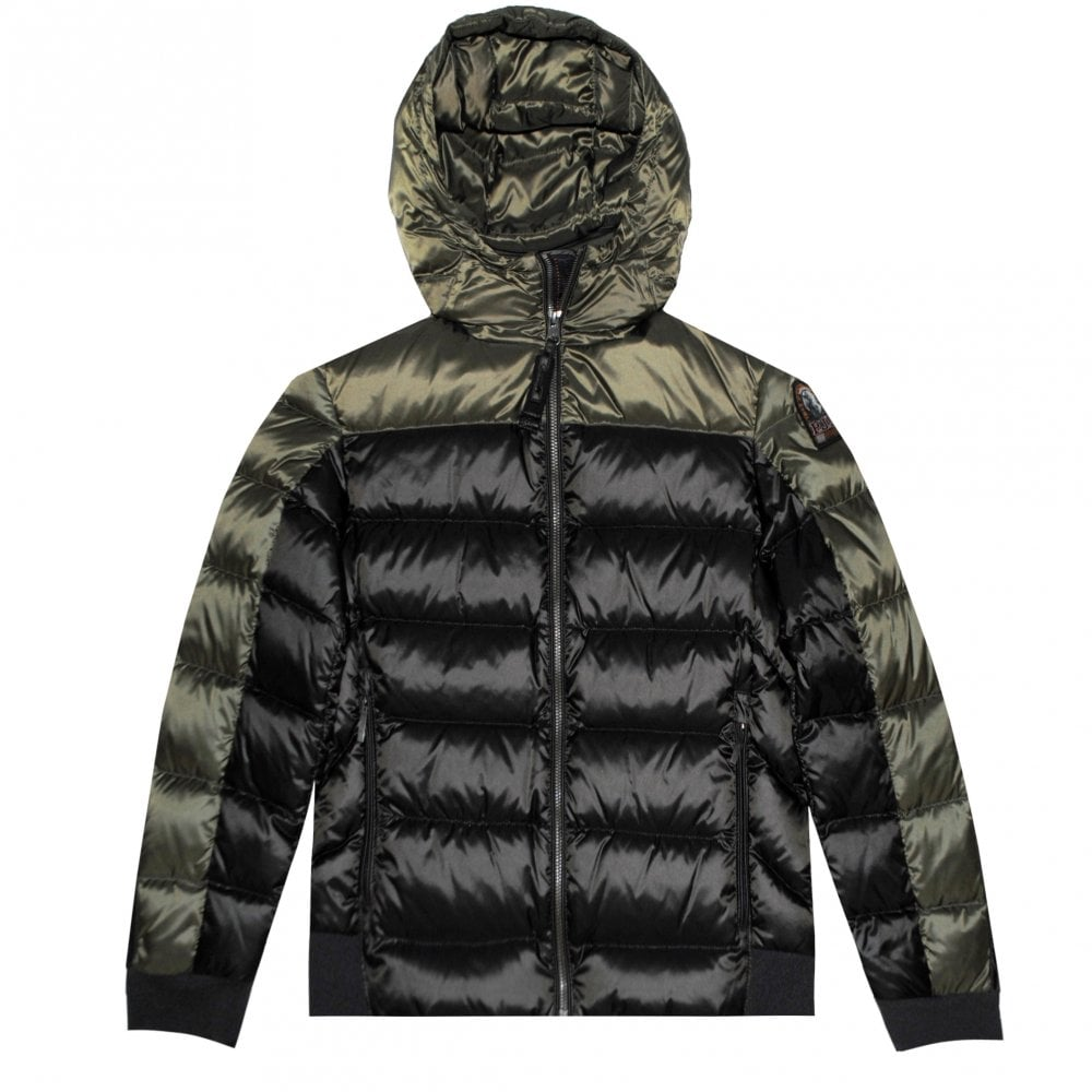 Parajumpers Pharrell Hooded Puffa Jacket Size: YOUNG MEDIUM, Colour: KHAKI