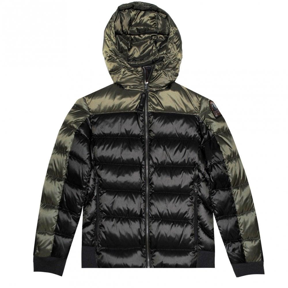 Parajumpers Pharrell Hooded Puffa Jacket Size: YOUNG MEDIUM, Colour: KHAKI