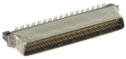 TE Connectivity AMPLIMITE .050 III Series, Male 50 Pin Straight Cable Mount SCSI Connector 1.27mm Pitch, Crimp, Quick