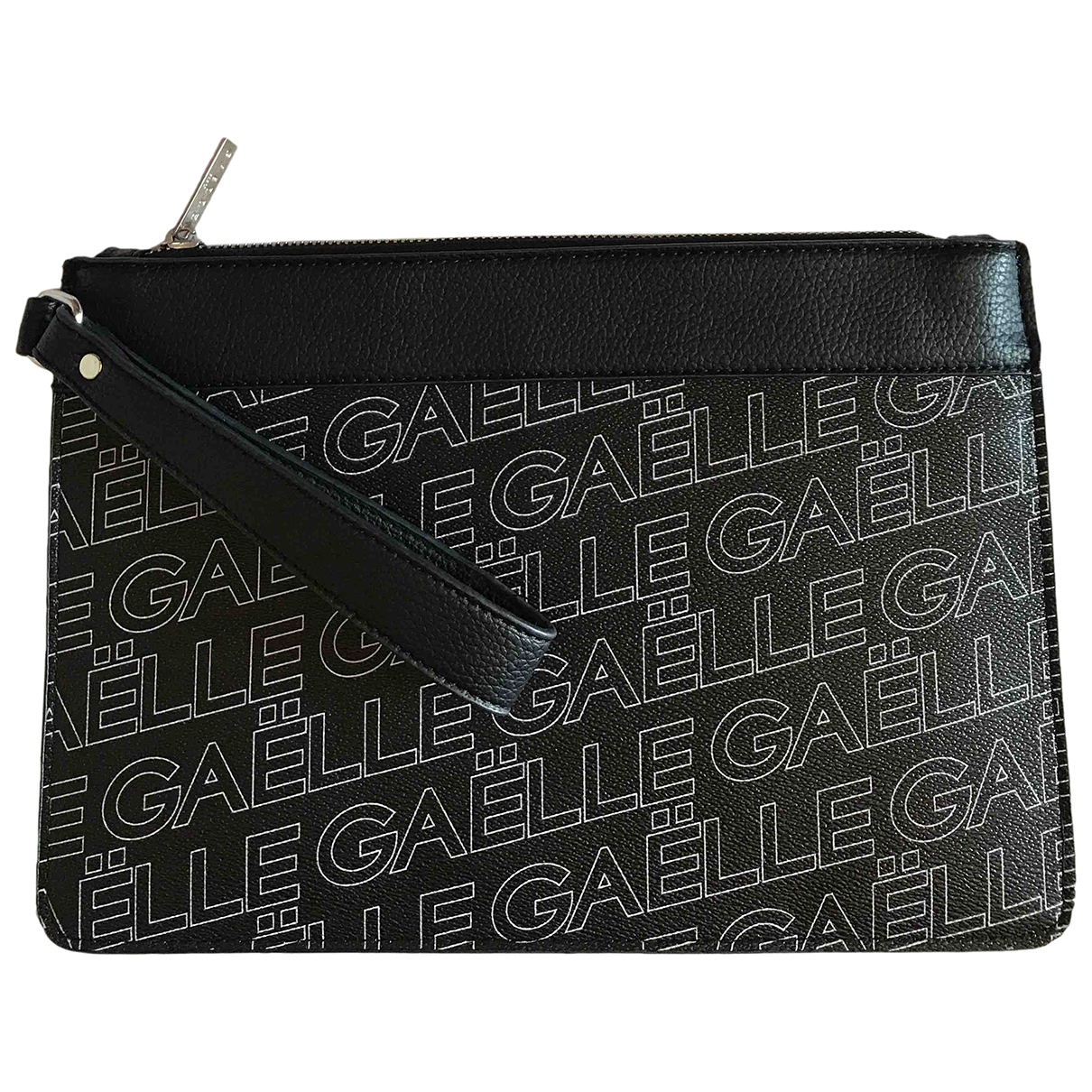 Gaelle Paris \N Clutch in  Schwarz Leder