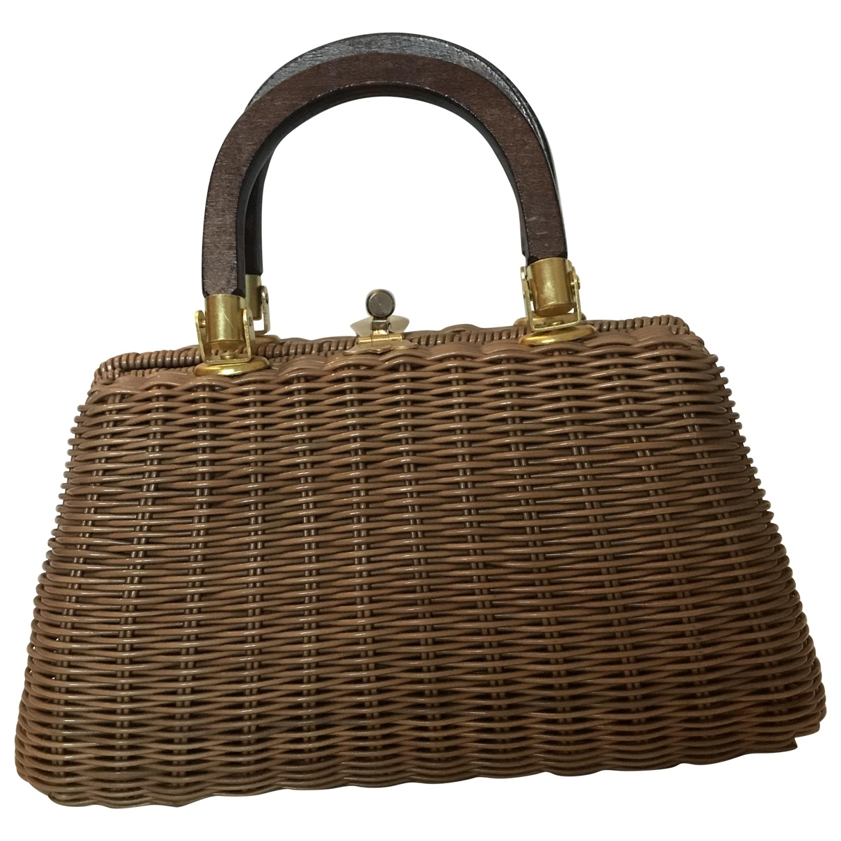 Non Signé / Unsigned \N Brown Wicker handbag for Women \N