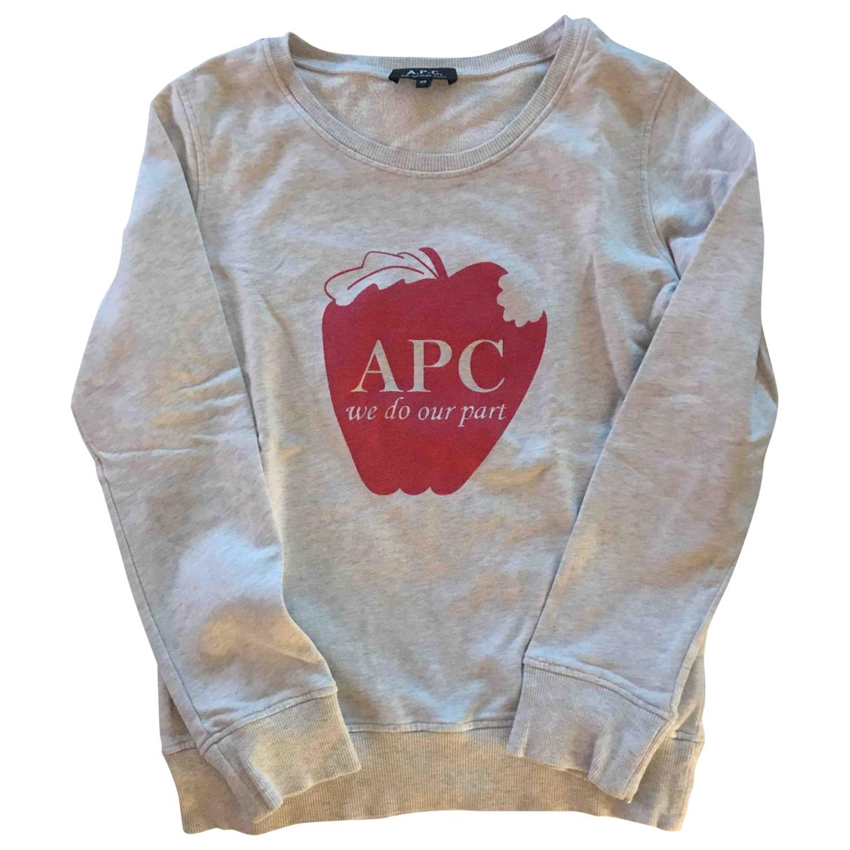 Apc - Pull   pour femme en coton - gris
