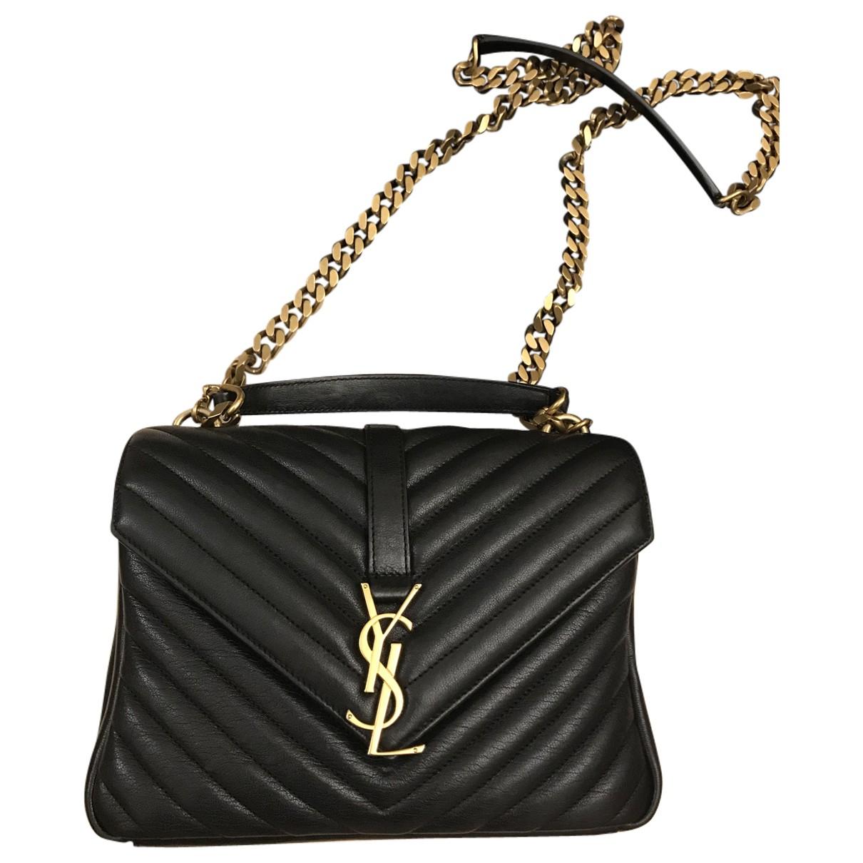 Saint Laurent Collége monogramme Black Leather handbag for Women \N