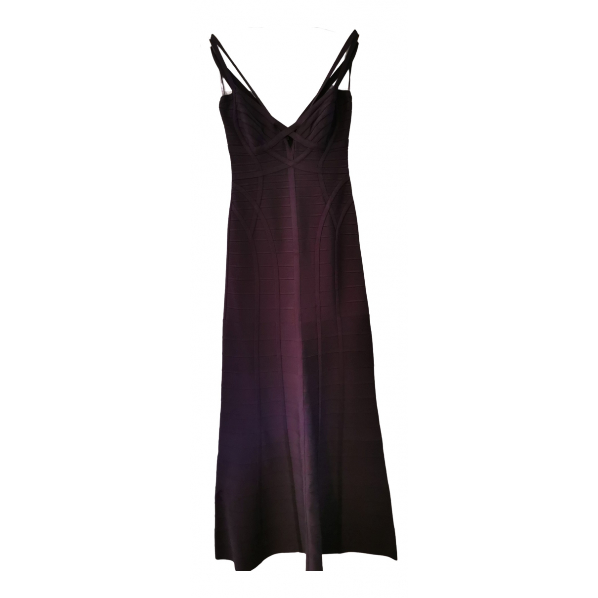 Herve Leger \N Kleid in  Lila Baumwolle - Elasthan