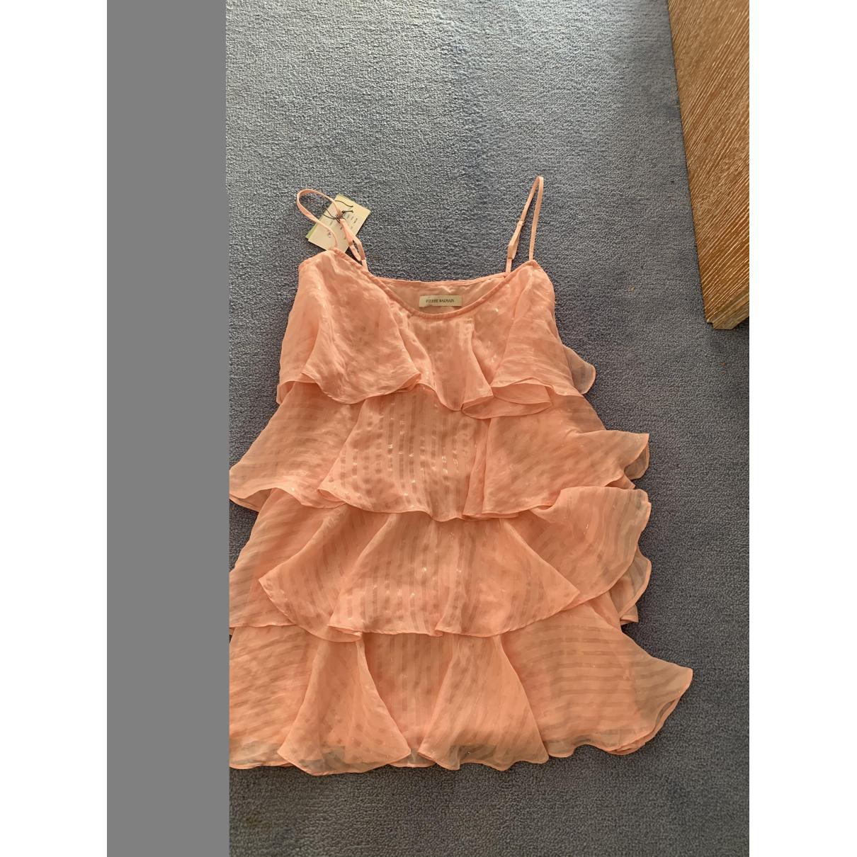 Pierre Balmain \N Pink Silk dress for Women 36 FR