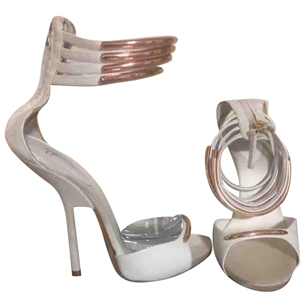 Giuseppe Zanotti - Escarpins   pour femme en cuir - blanc