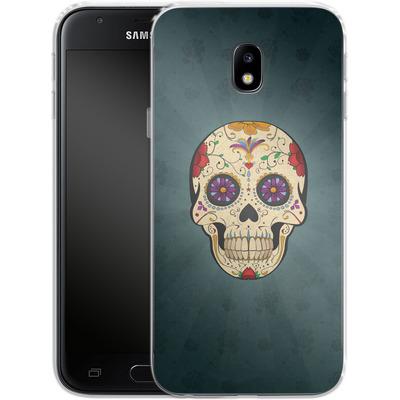 Samsung Galaxy J3 (2017) Silikon Handyhuelle - Dia de Muertos von SONY