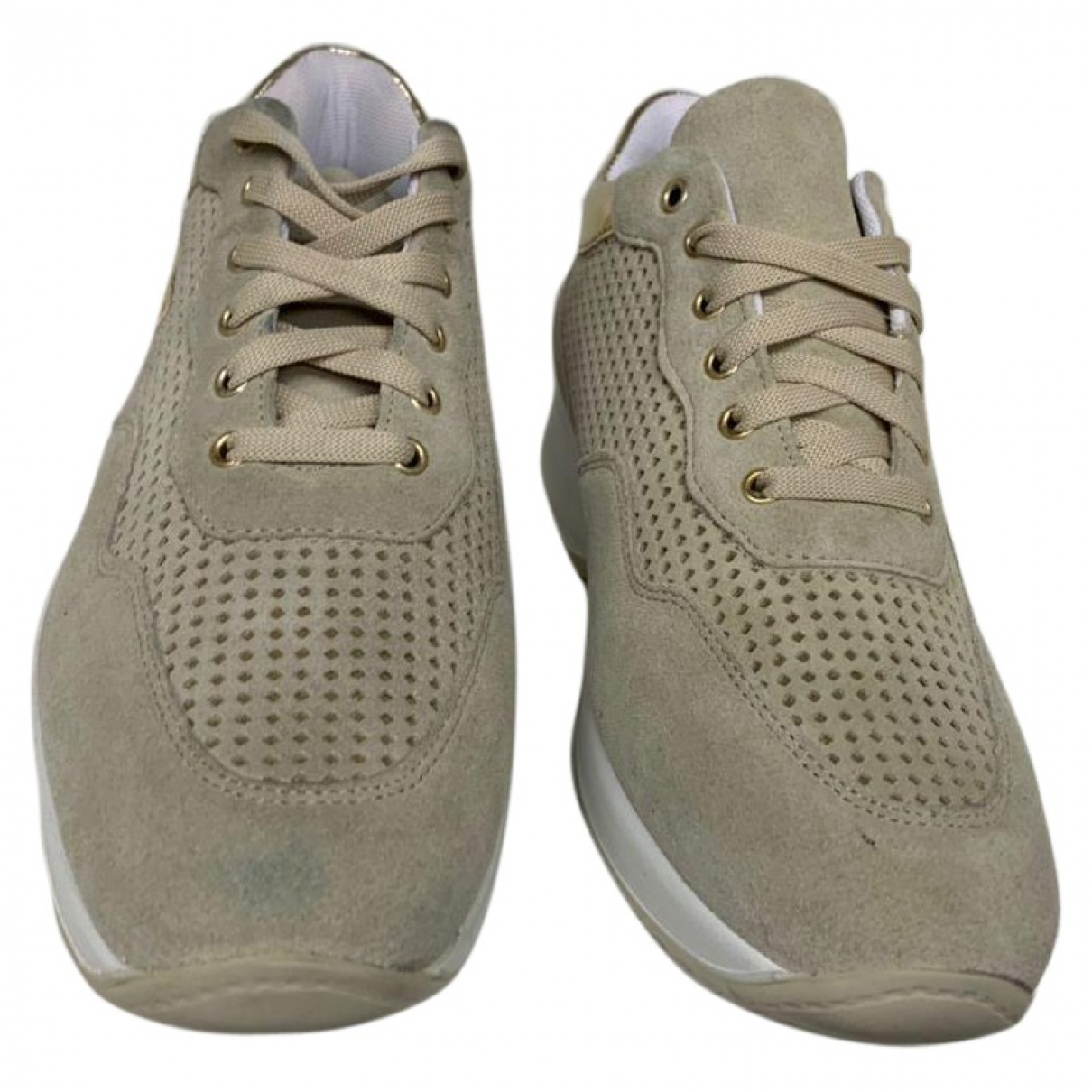 Byblos \N Beige Suede Trainers for Women 38 EU