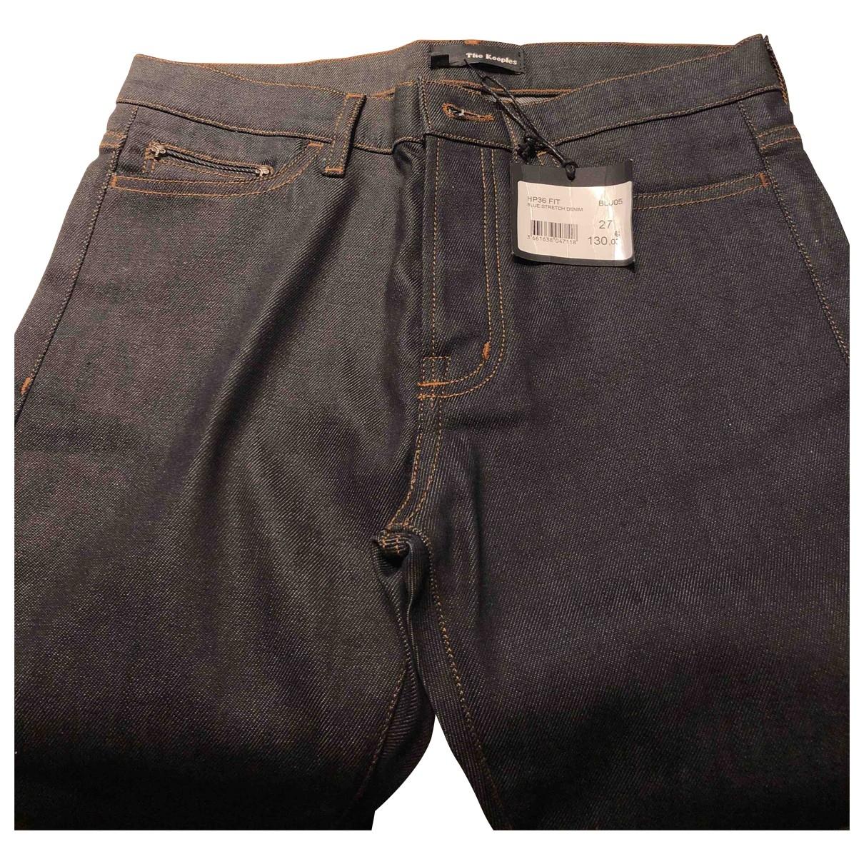 The Kooples \N Blue Cotton Jeans for Men 28 US