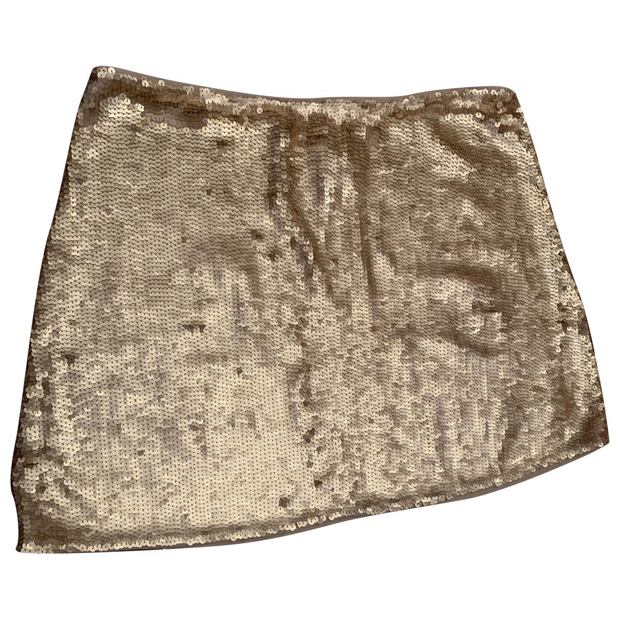 Pinko N Gold Glitter skirt for Women L International