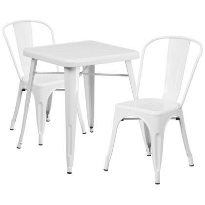 CH-31330 Collection CH-31330-2-30-WH-GG 3 Piece Indoor-Outdoor Table Set with 24