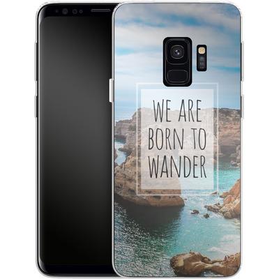Samsung Galaxy S9 Silikon Handyhuelle - Born to Wander von Joel Perroden
