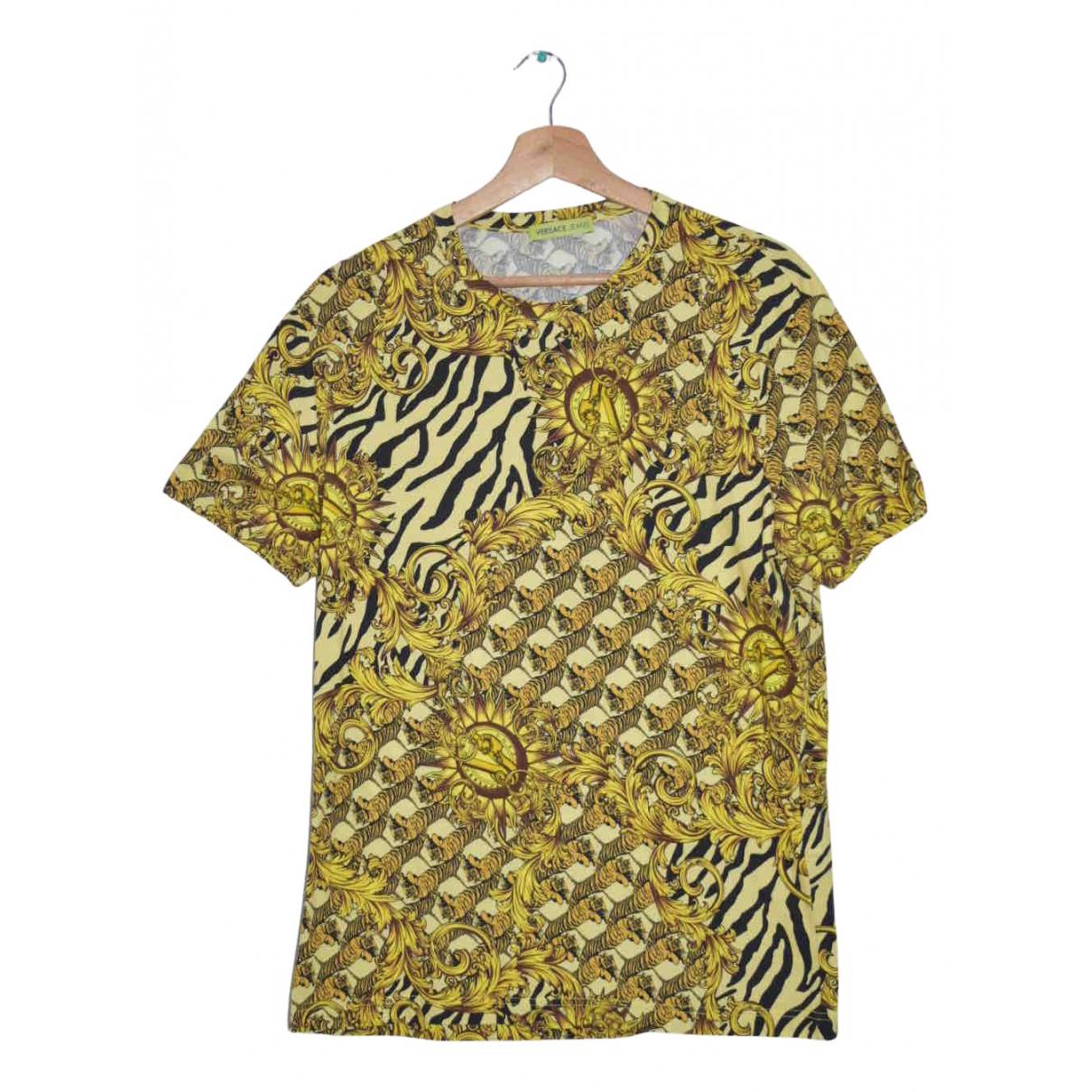 Versace Jean - Tee shirts   pour homme en coton - dore