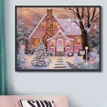 House Print DIY Diamond Painting Without Frame