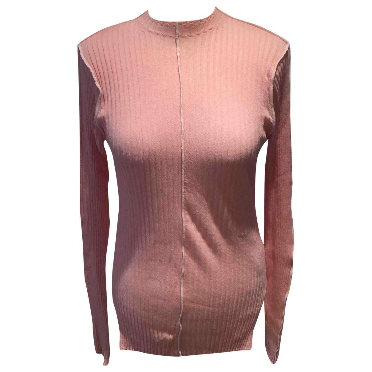 Celine \N Pullover in  Rosa Baumwolle