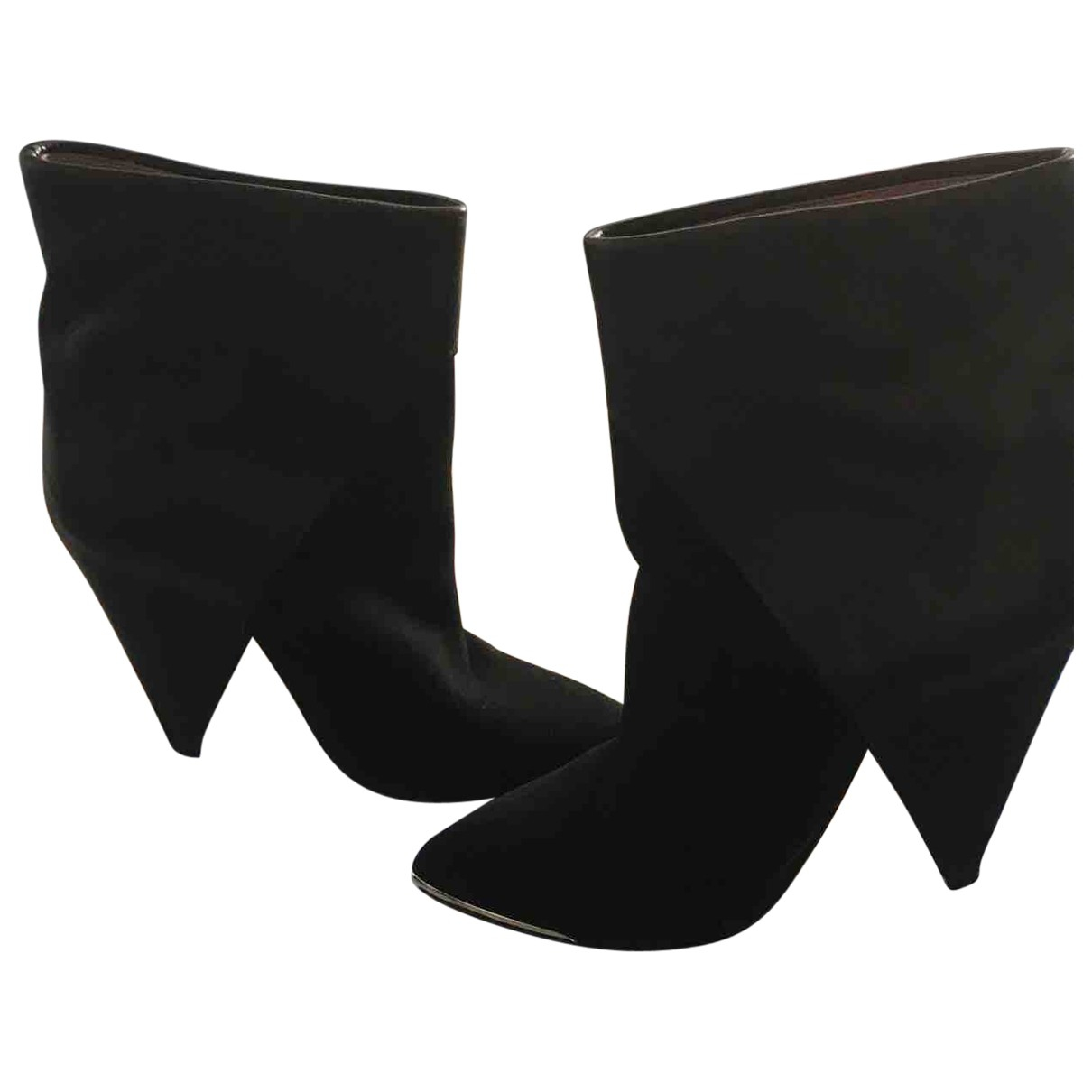Iro \N Black Leather Ankle boots for Women 37 EU