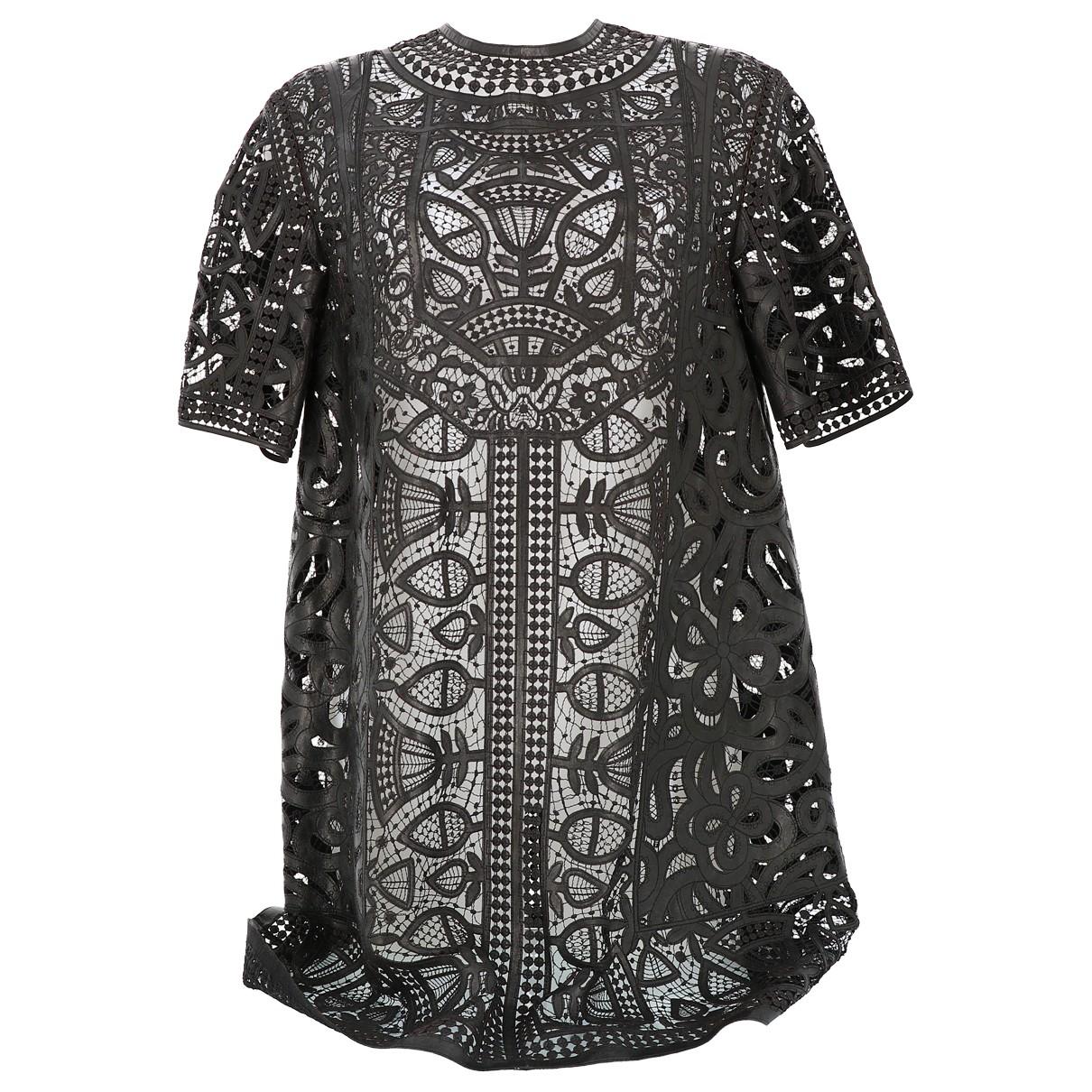 Dior \N Kleid in  Schwarz Leder