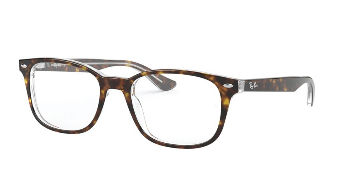Ray-Ban RX5375F Asian Fit 5082 Men's Glasses Tortoise Size 53 - HSA/FSA Insurance - Blue Light Block Available