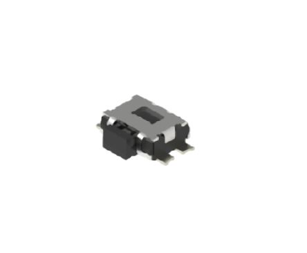 Alps Alpine Black Button Tactile Switch, Single Pole Single Throw (SPST) 50 mA 0.65mm Surface Mount (10)