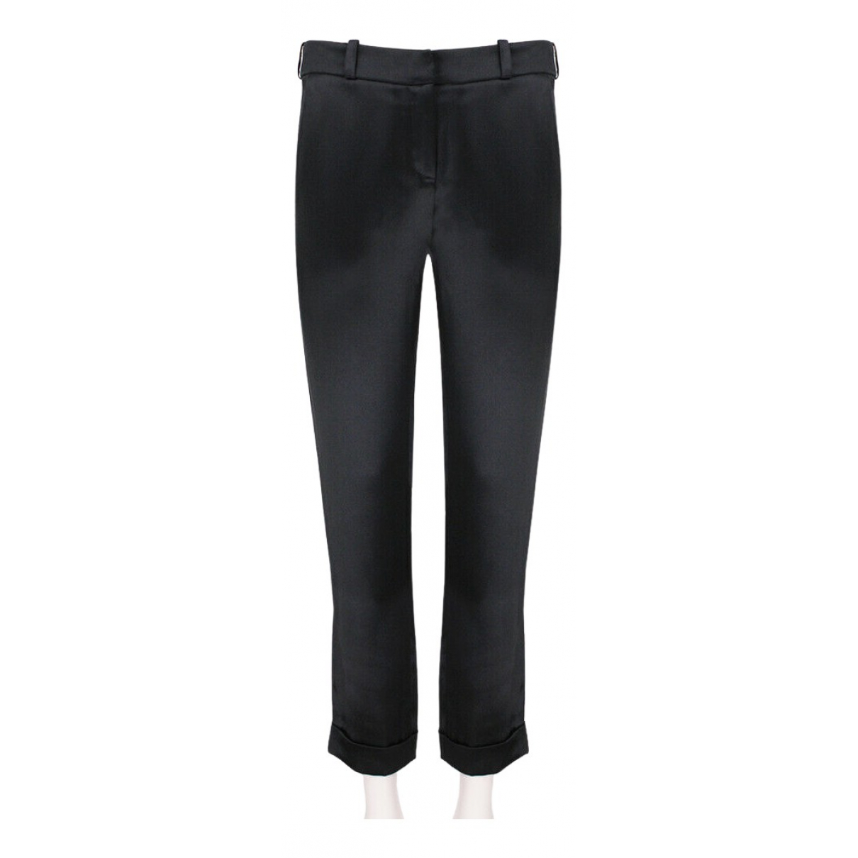 Balmain N Black Trousers for Women 38 FR