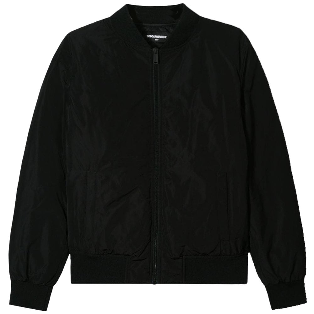 DSquared2 Kids ICON Logo Jacket Colour: BLACK, Size: 16 YEARS