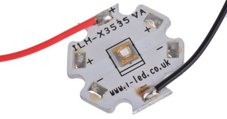 Intelligent LED Solutions ILH-XO01-S410-SC211-WIR200. , N3535 1 Powerstar Series UV LED, 420nm 400mW 125 °, 4-Pin
