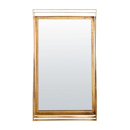 Safavieh Resa Gold Retro Wall Mirror, One Size , Yellow