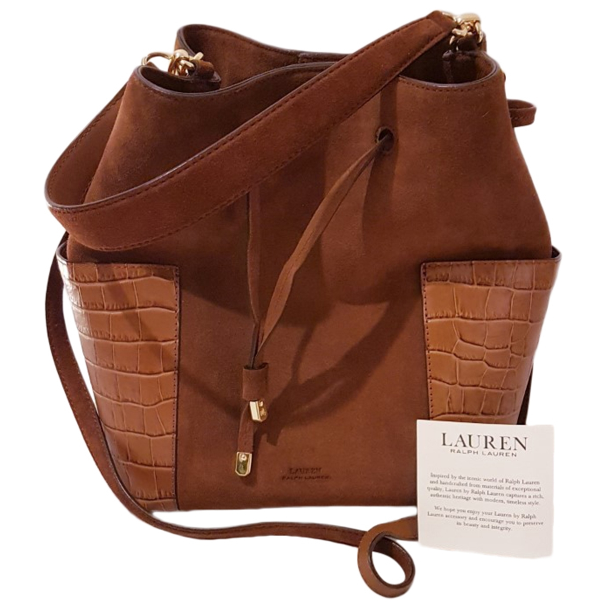 Lauren Ralph Lauren \N Brown Suede handbag for Women \N